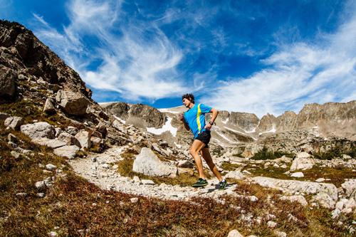 Scott Jurek à l'entraînement dans le Colorado.