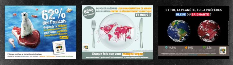 Bannière Élevage et climat : affichage dans le métro parisien