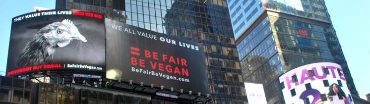 Bannière Affichage XXL pour les animaux à New York!
