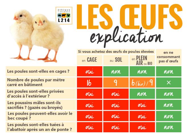 tableau codes oeufs mode d'élevage 0 1 2 3