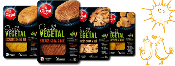 gamme vegan Cereal Grill végétal