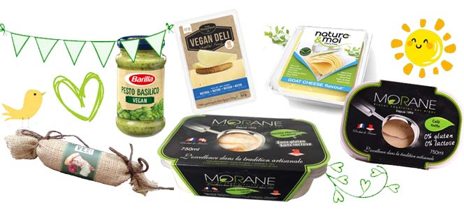Fromages et glaces vegan