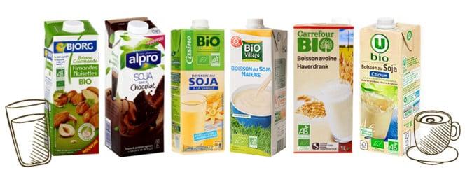 gamme de laits végétaux