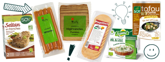 produits vegan en magasin bio
