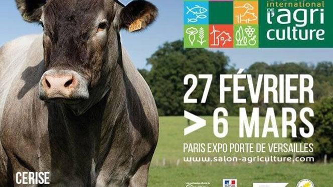 Affiche du salon de l'agriculture avec une photo de Cerise