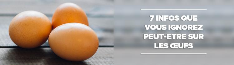 Bannière 7 infos que vous ignorez peut-être sur les œufs