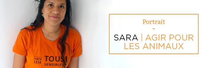 Bannière Sara : agir pour les animaux