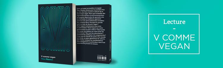 Bannière V comme Vegan, un livre résolument optimiste
