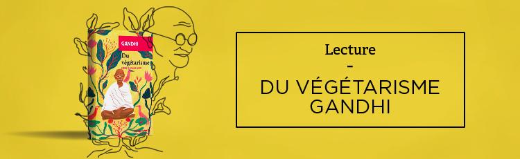 Bannière Gandhi, engagé pour le végétarisme