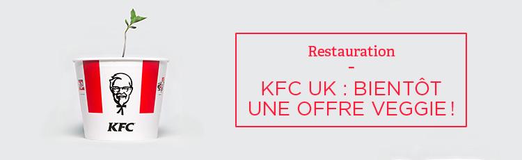 Bannière KFC : bientôt une offre veggie au Royaume-Uni !