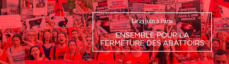 Bannière Ensemble pour la fermeture des abattoirs !