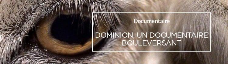 Bannière Dominion, un documentaire bouleversant
