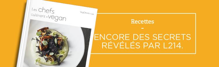 """Bannière """"Les chefs cuisinent vegan"""", le livre de cuisine de L214"""