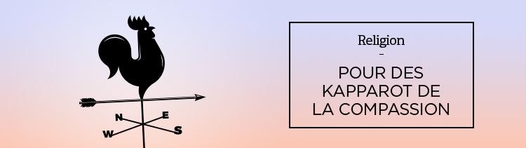 Bannière Pour des Kapparot de la compassion