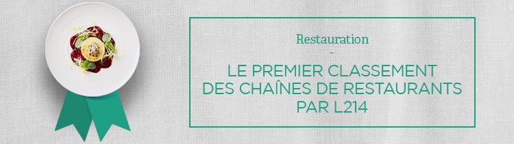Bannière L214 publie son premier classement des chaînes de restaurants. And the winner is...