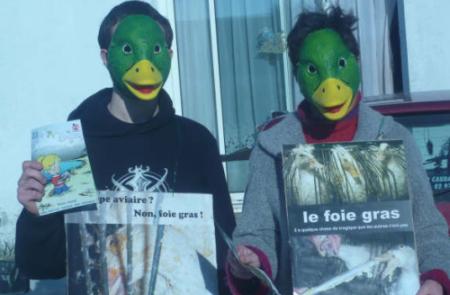 Actions pour l'abolition du foie gras