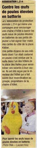 Dernières nouvelles d'Alsace - Tournée Novotel