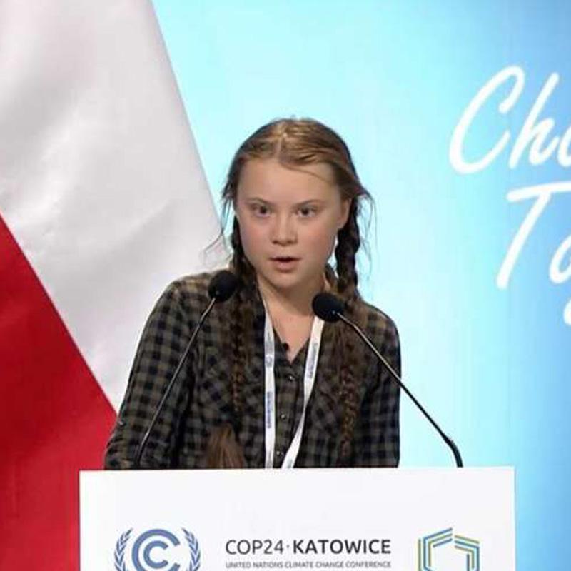 Le discours de Greta à la COP 24, en décembre 2018.