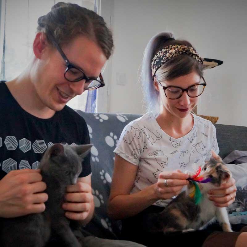 Pénélope et Charly ont créé Au bonheur des chats.