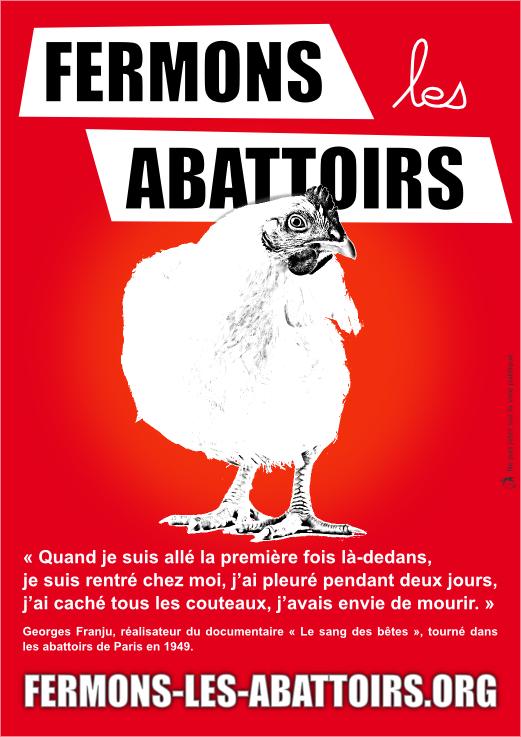 Tract de la Marche pour la fermeture des abattoirs - recto