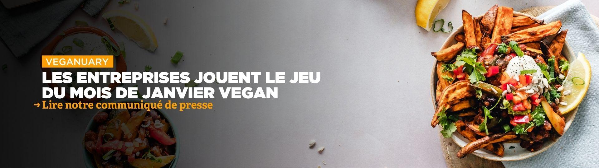 Les entreprises jouent le jeu du mois de janvier vegan