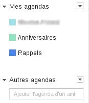 liste agenda google