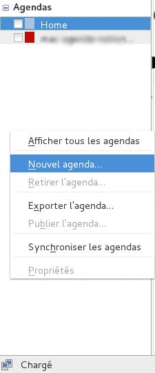 nouvel agenda Thunderbird