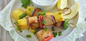 Photo de brochettes aux légumes