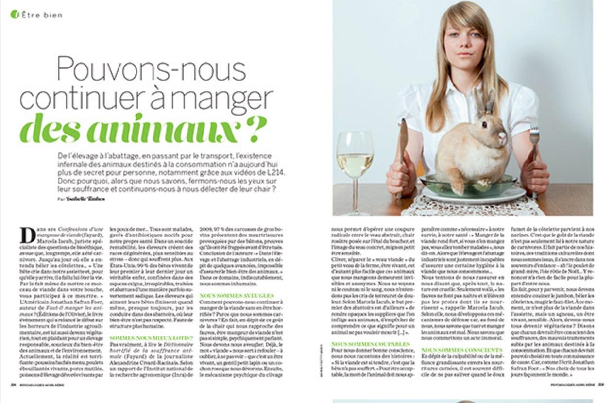 Article Pouvons-nous continuer à manger des animaux ?