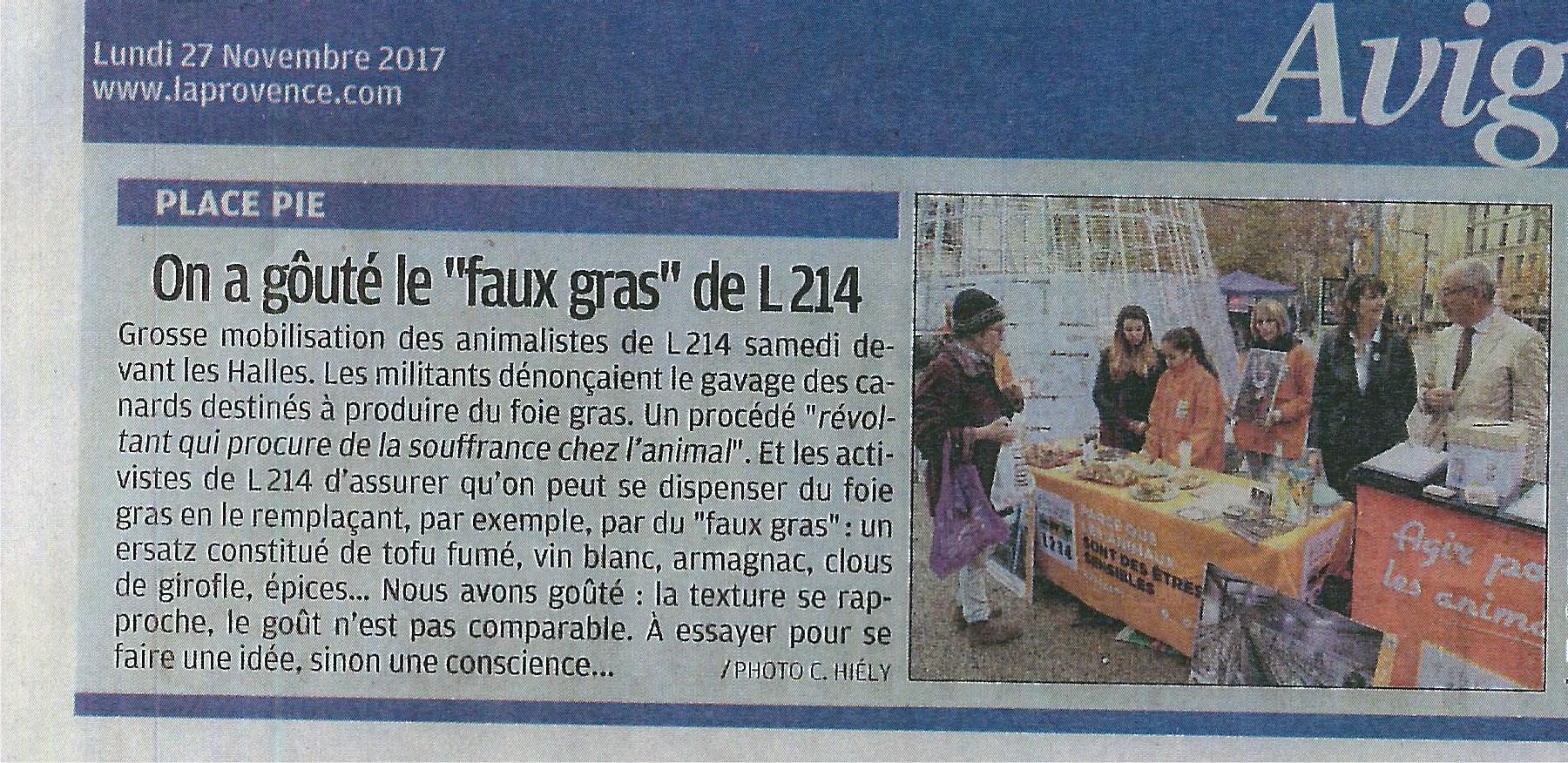 Coupure de presse - La Provence