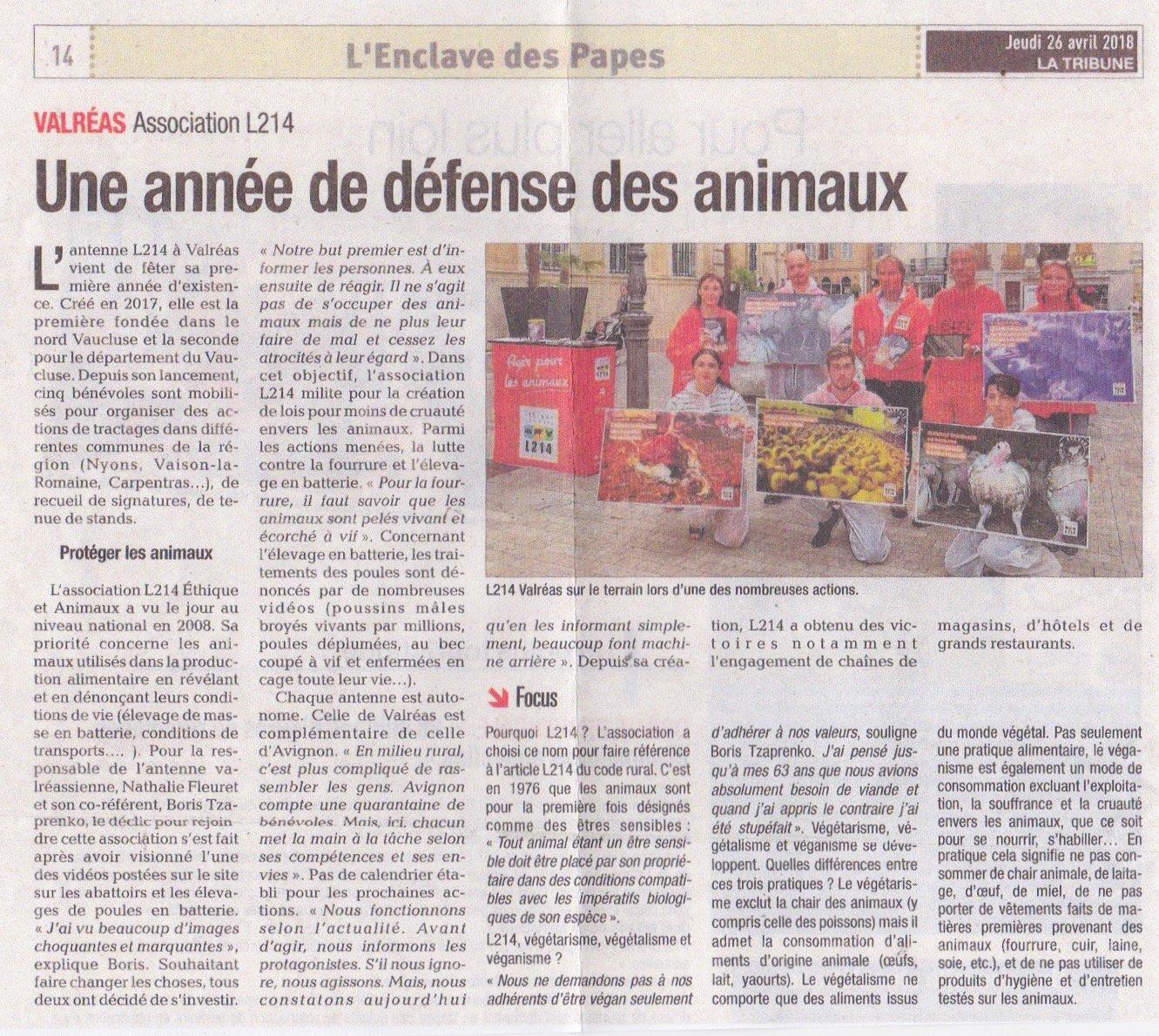 Article de presse L214