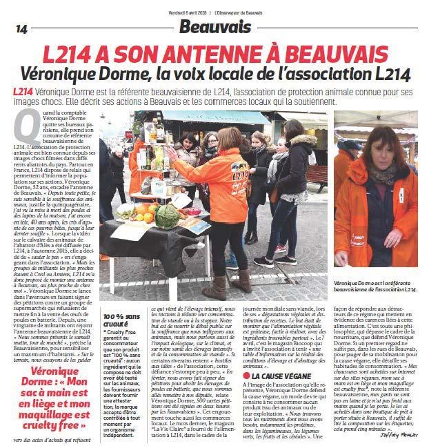 L214 a une antenne à Beauvais