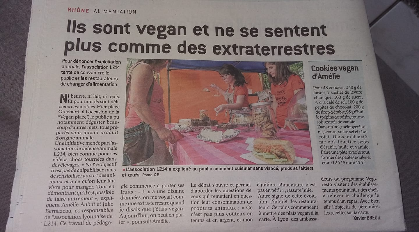 Article sur le véganisme Vegan Place Lyon