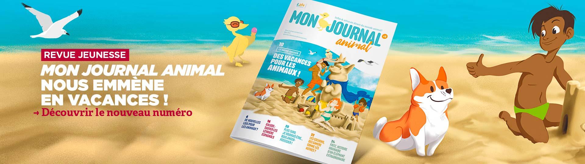 Mon journal animal #8 nous emmène en vacances !