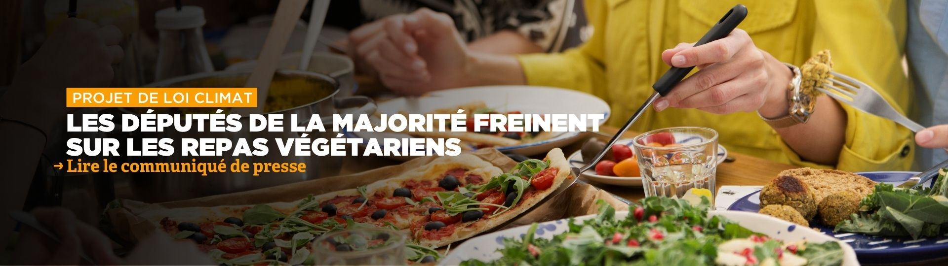 Projet de loi Climat : la majorité freine sur les repas végétariens
