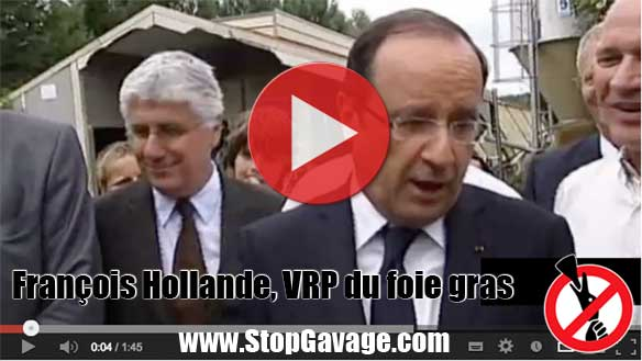 François Hollande, VRP du foie gras